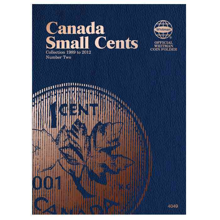 Canada Small Cent Folder 2, 1989-2012 By Whitman Publishing (COR)